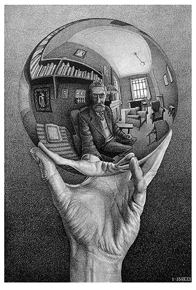 Mano-con-sfera-riflettente